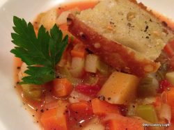 Tomaten-Lauch Gemüsesuppe