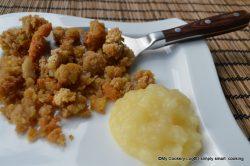 Kartoffelteig Bröslschmarrn mit Apfelmus