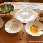 Zutaten zum Pannieren der Risotto-Pflänzchen