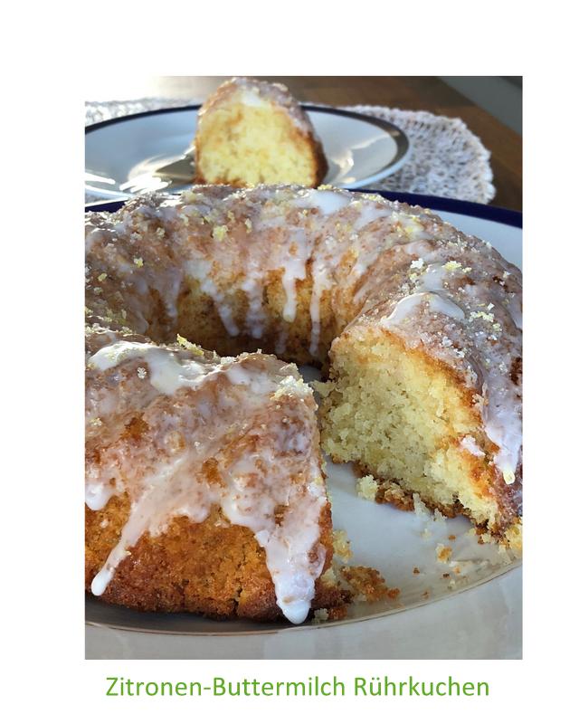 Zitronen-Buttermilch Rührkuchen